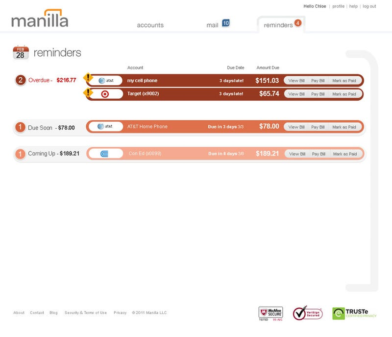 Manilla Is an Excellent Bill Management Tool (and We've Got Beta Invites!)