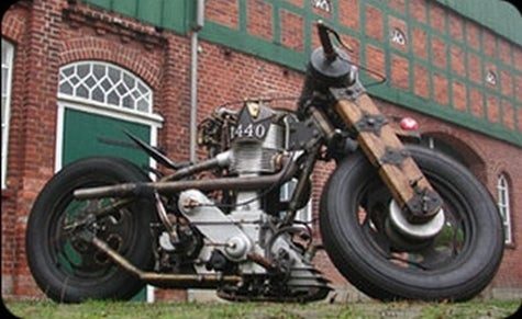 Get Out Your Monocle and Ride! Steampunk Motorcycle