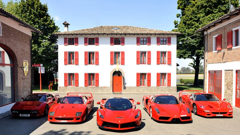 Every Ferrari Hypercar In One Picture