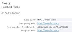 Bluetooth SIG Filing Drops Clues About HTC's Next Android Phone, the Fiesta