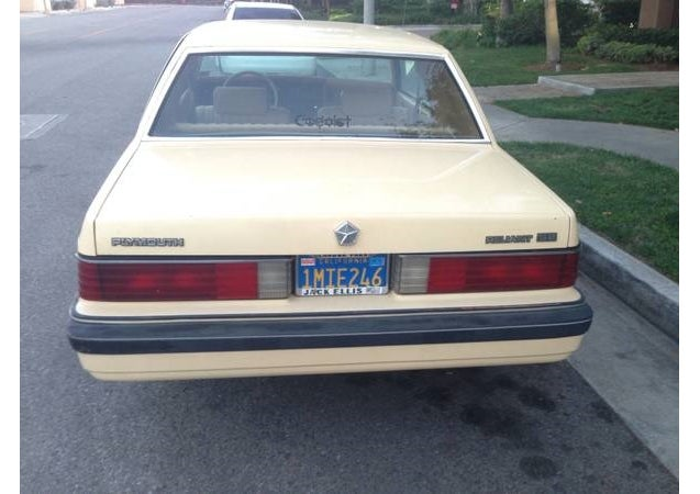 Get A Glimpse Of Purgatory By Buying A Low Mile Plymouth Reliant