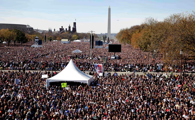 How Big Was the 'Rally to Restore Sanity and/or Fear' Yesterday?