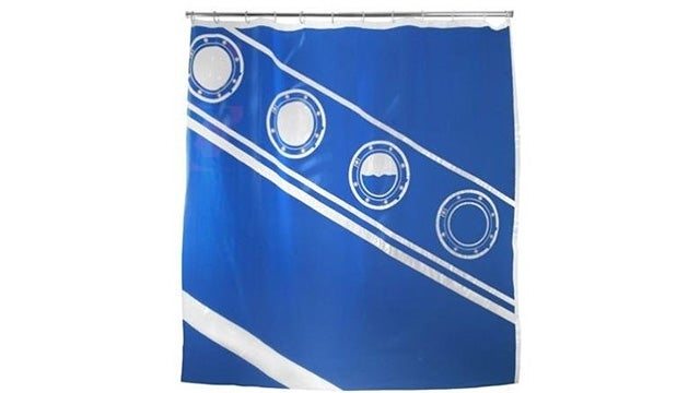 Commemorate All Famous Shipwrecks With This Sinking Shower Curtain