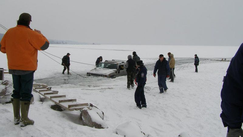 What Made You Think The Second Hummer Wouldn't Also Fall Through The Ice?