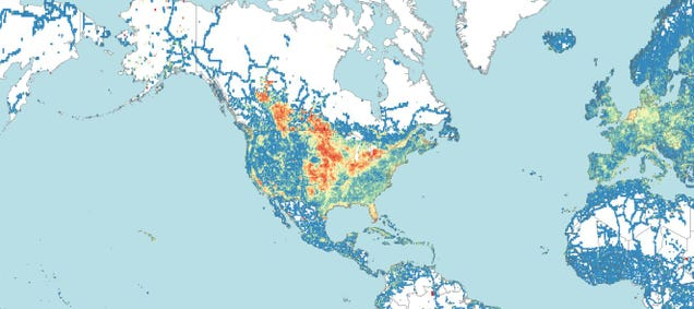 A Map Of The World's Straightest Roads Proves The Midwest Is Really Dull