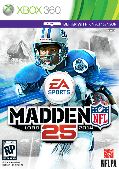 All-Time Great Barry Sanders Runs Away with Madden NFL 25's Cover