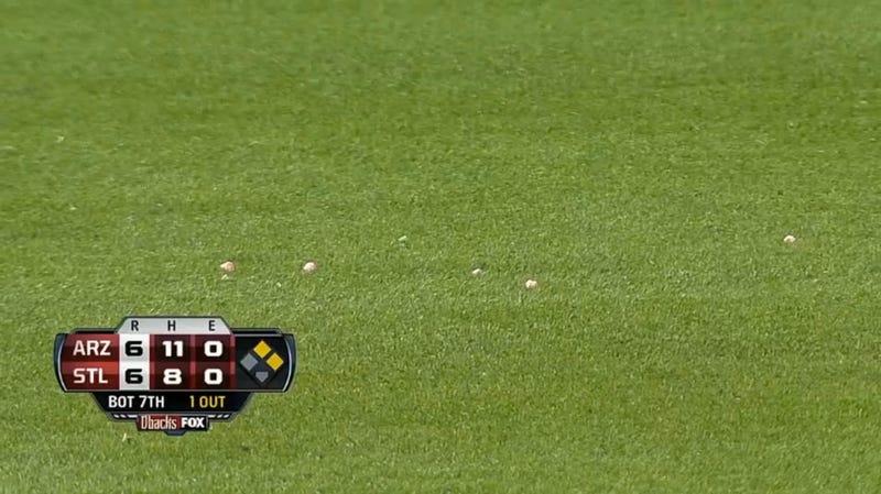 Weirdo Rookie Umpire Fills Left Field With His Chewed Gum