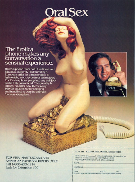 """The Erotica Phone: 1984's """"Masterpiece of Micro-Processor Technology"""" (NSFW)"""