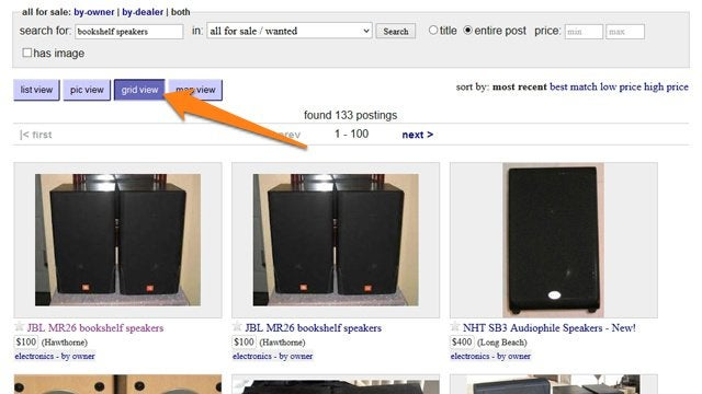Use Craigslist's Grid View for an Infinitely Better Classifieds Search