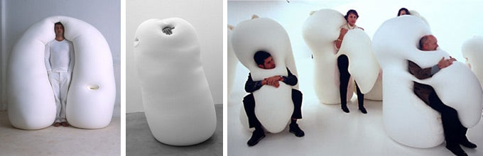 Ernesto Neto's Bouncy White Humanoid Blobs