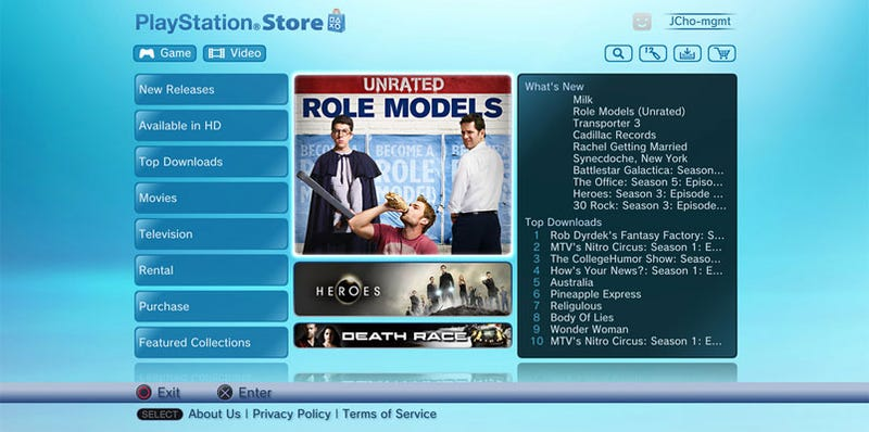 PlayStation Store Gets A Booster Shot From NBC Universal