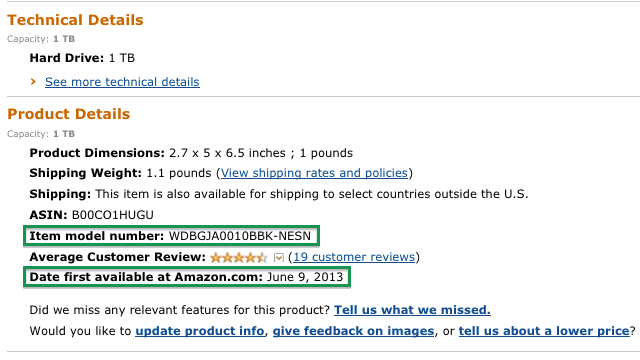 Differentiating Multiple Listings of the Same Product on Amazon