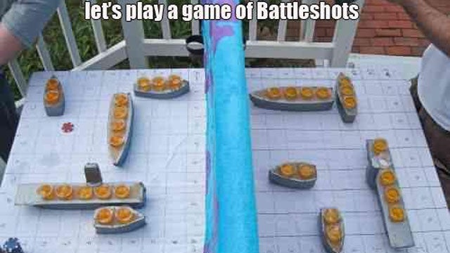 This Game of Battleship Will get you Hammered