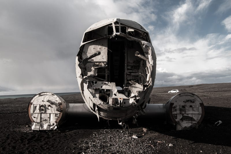 Haunting Photos Of A Plane Crash Untouched For 40 Years