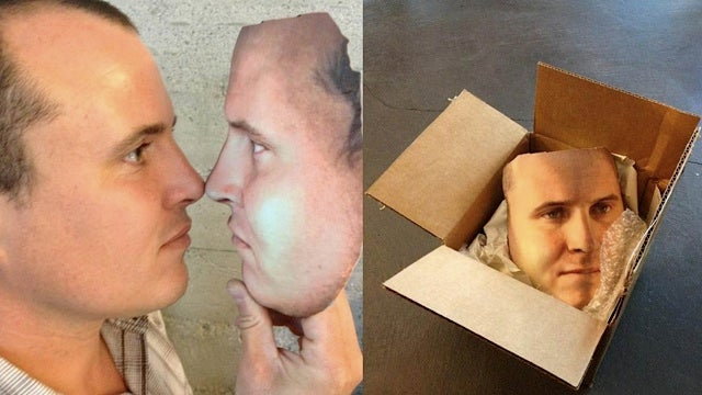 Need a creepy Halloween costume? Wear a 3D-printed mask of your own face
