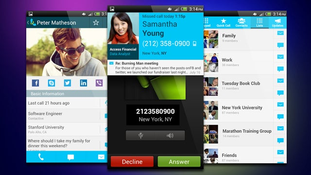 Contactive Identifies Unknown Callers, Adds Social Info to Contacts