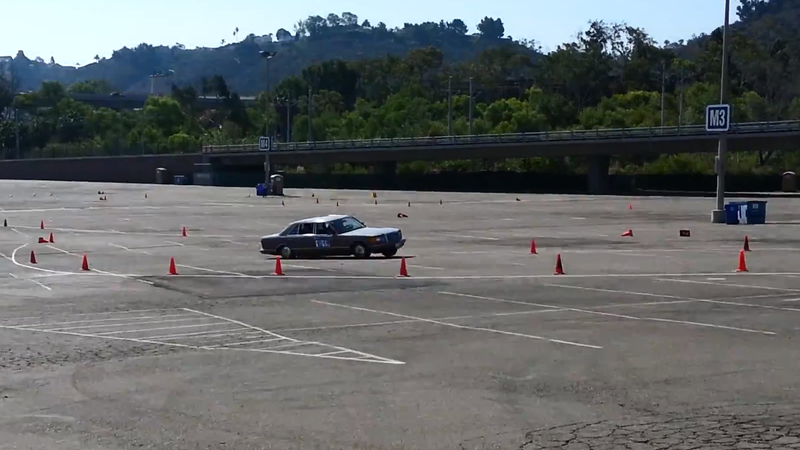 W126 Autocross Is The Best Thing Ever