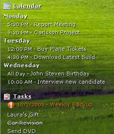 DeskTask Puts Outlook Events and Tasks on Your Desktop