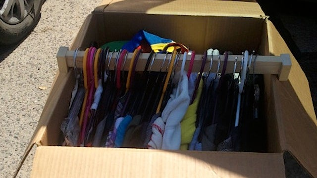 Make Your Own Wardrobe-Style Boxes for Quickly Packing Clothes