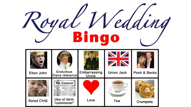 Royal Wedding Bingo