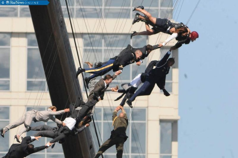 Iron Man 3 Stunt Photos