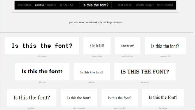 Wordmark.it Instantly Previews All Your Installed Fonts in the Browser