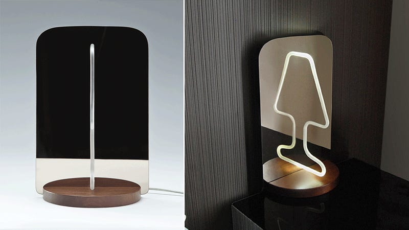 An Optical Illusion Makes This Flat-Pack Lamp Look Not So Flat