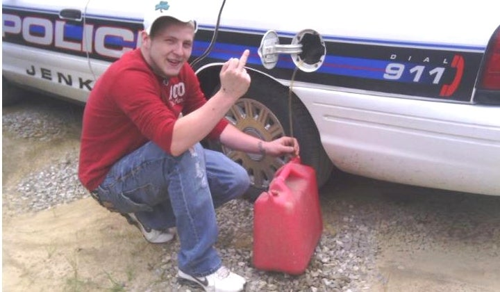 Imagine That: Man Who Stole Gas From Police Cruiser Caught After Posting Photo of Theft On Facebook