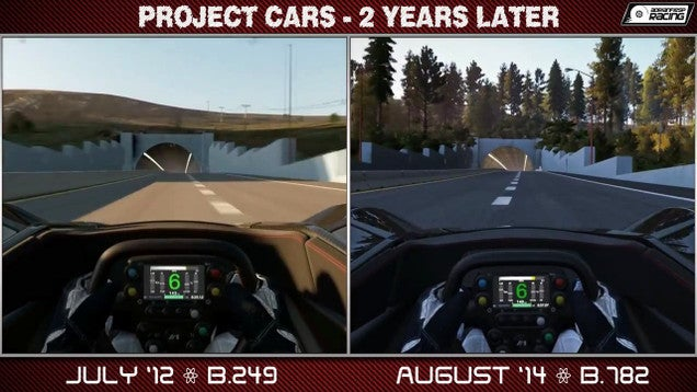 Video Shows How Far Project CARS Has Come in Two Years