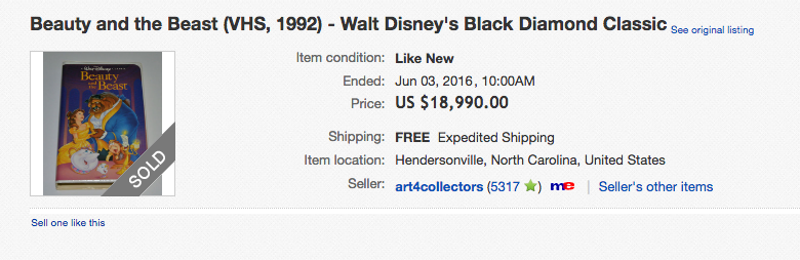 Why Do People Want Thousands of Dollars For Disney VHS Tapes on eBay?