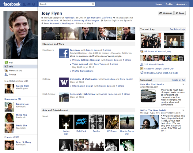 Here's Facebook's New Profile Page (Updated)