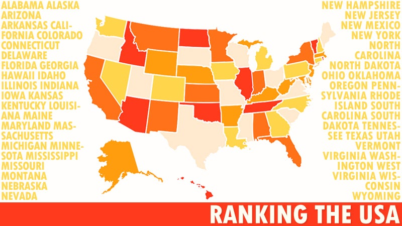 The Worst 50 States in America