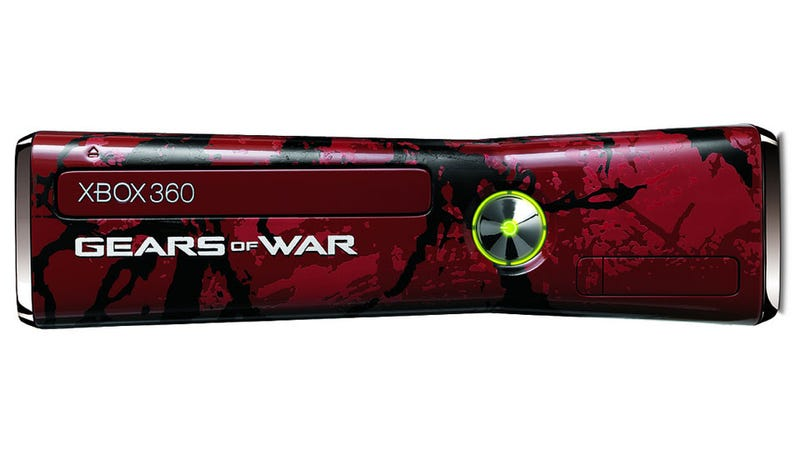 There's a Gears Of War Xbox 360 Console, and it's Bloody as Hell