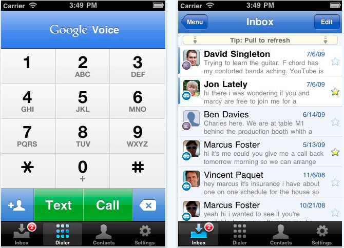 Google Voice. For iPhone. It's here.
