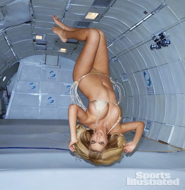 Watch Kate Upton posing in zero gravity in a bikini because science