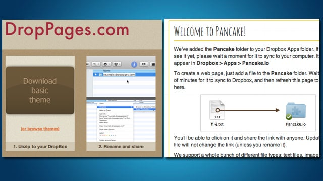 Host Web Pages for Free within Dropbox with DropPages or Pancake.io