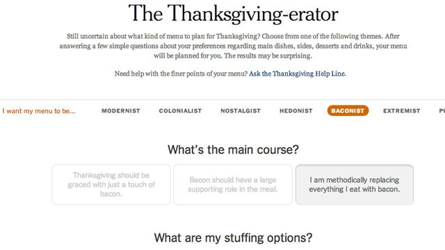 The Thanksgiving-erator Helps You Plan a Thanksgiving Menu