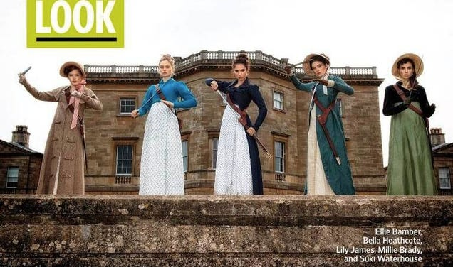 Pride & Prejudice & Zombies Debuts Its Zombie-Fighting Bennet Sisters