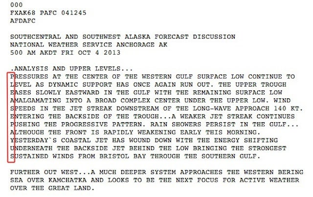 National Weather Service hides furlough message in forecast