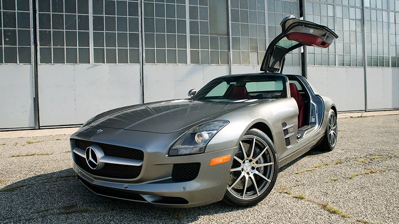 Driving Darth Vader's Helmet. The SLS AMG Review