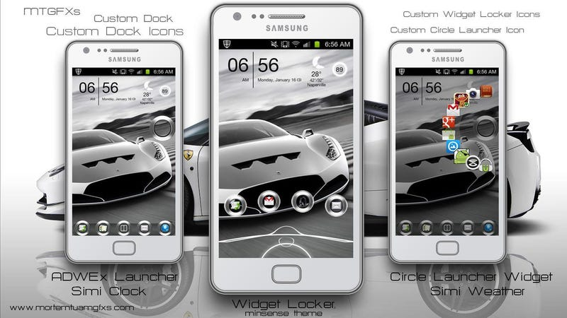 The White Ferrari Home Screen