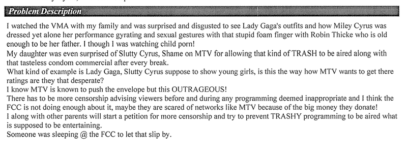 Every FCC Complaint About Miley Cyrus's VMA Twerking