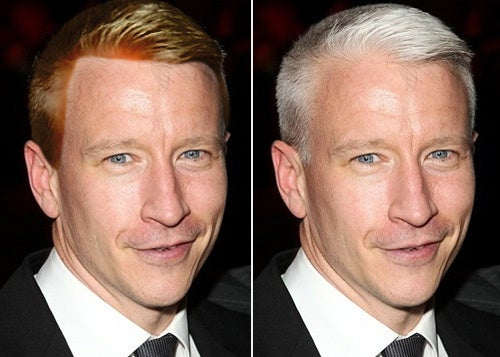 Anderson Cooper: Please Don't Dye Your Hair!