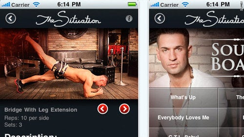 The Situation, Snooki Have Their Own Apps
