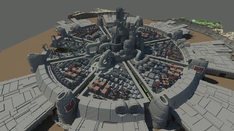 Here's A Stunning Minecraft Re-Creation Of Final Fantasy VII's Midgar