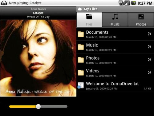 ZumoDrive Apps Stream Media and Access Documents on Your Android, Palm Pre, or iPhone