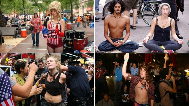 Scenes From the Wall Street Protests