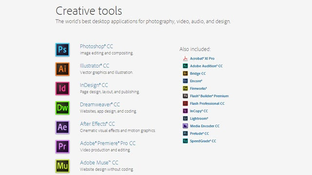Adobe's New Creative Cloud Apps Are Now Available for Rent