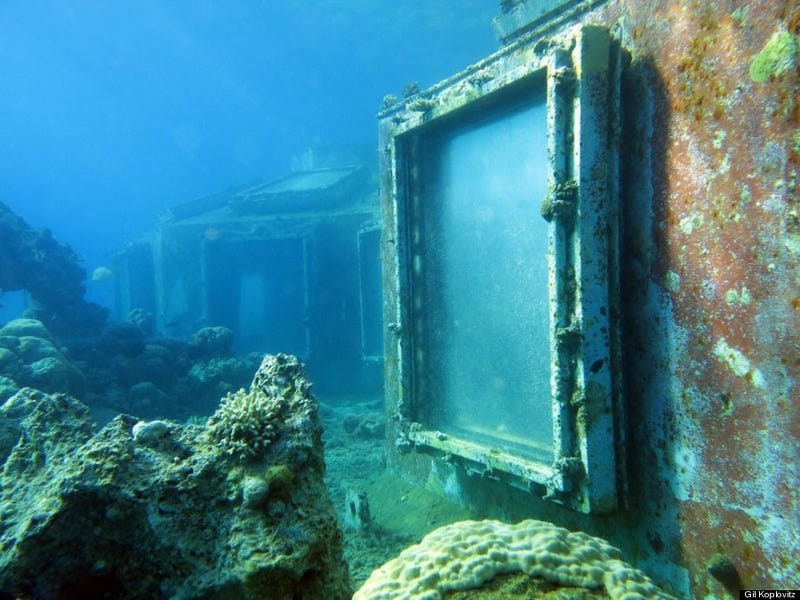 This abandoned underwater strip club is pristine on the inside