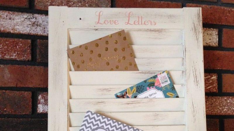 Transform an Old Window Shutter into a Mail Organizer